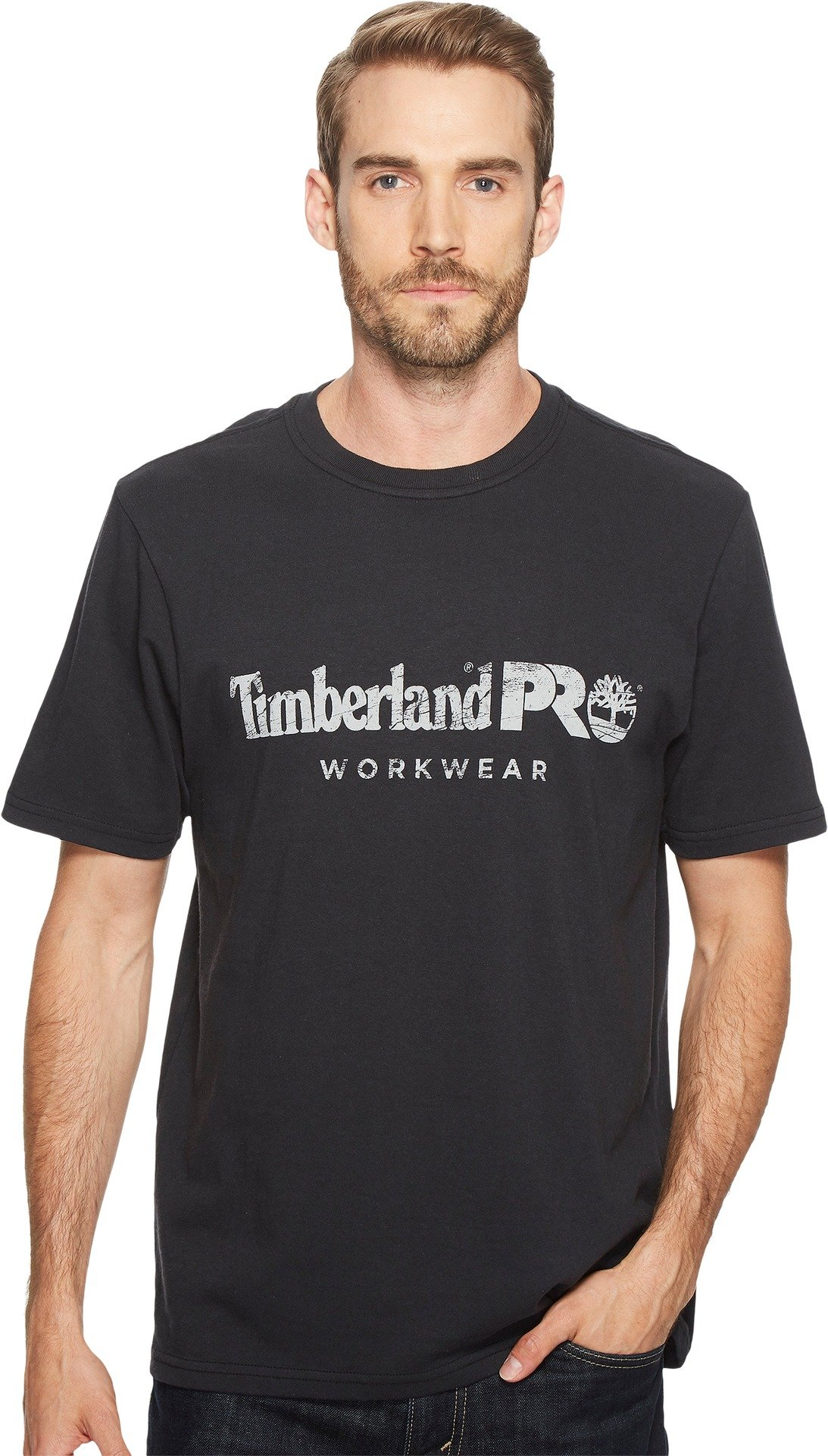 Timberland PRO Men's Cotton Core Short-Sleeve T-Shirt, Jet Black, X-Large