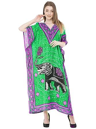 SKAVIJ Indien Femme Caftan Abaya Longue Kimono Boheme Tunique Cocktail  Imprimé Fleuri Ethnique Maternité Col V Dashiki Soiree Robe  Amazon.fr   Vêtements et ... 8343e21cded