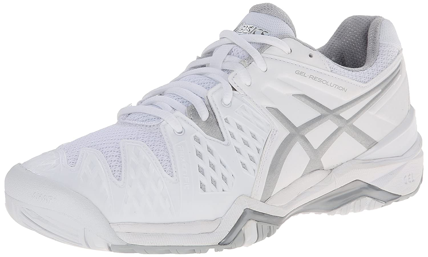 ASICS Gel Resolution 6 WIDE Women's Tennis Shoe White/Silver - WIDE version B00KI5V5HY 5 B(M) US|White/Silver