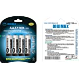 4 x AAA 1100 mAh Rechargeables