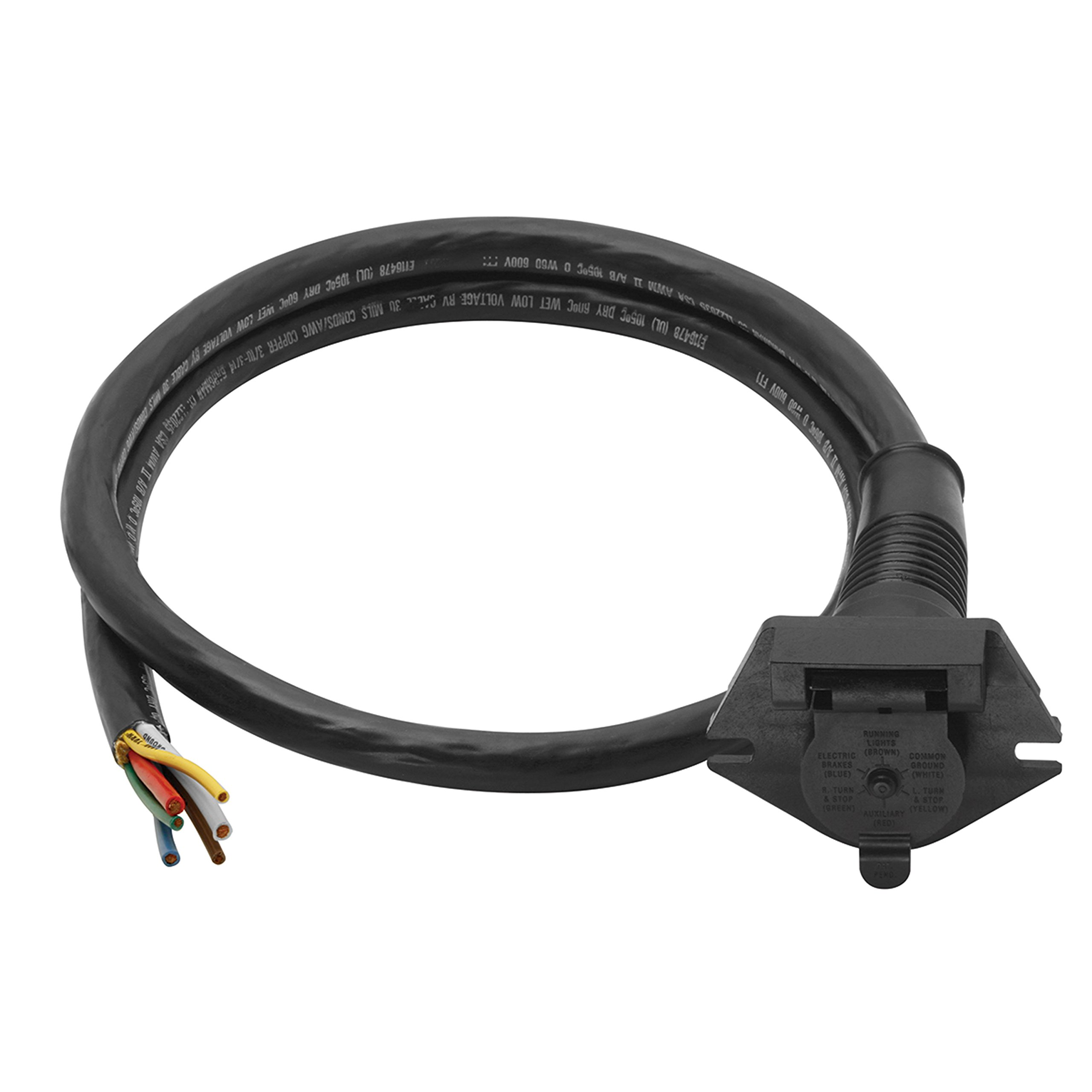 Bragman 6-Way Super Sealed Car End Connectors with 7-Feet Cable