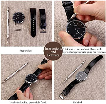 360x Uhren Edelstahl Federstege Set Federstifte Uhrenstifte Springbar 8-25mm Neu