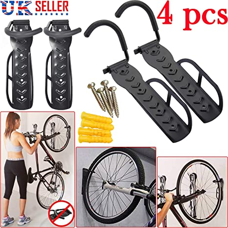 Safekom 4 x para bicicleta de pared con gancho para accesorio de soporte para garaje: Amazon.es: Deportes y aire libre