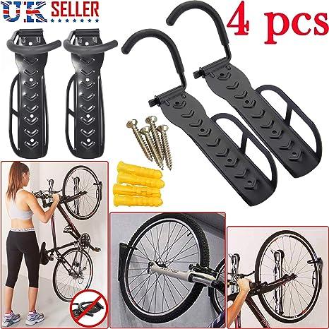 7970d7041 Safekom 4 x para bicicleta de pared con gancho para accesorio de soporte  para garaje