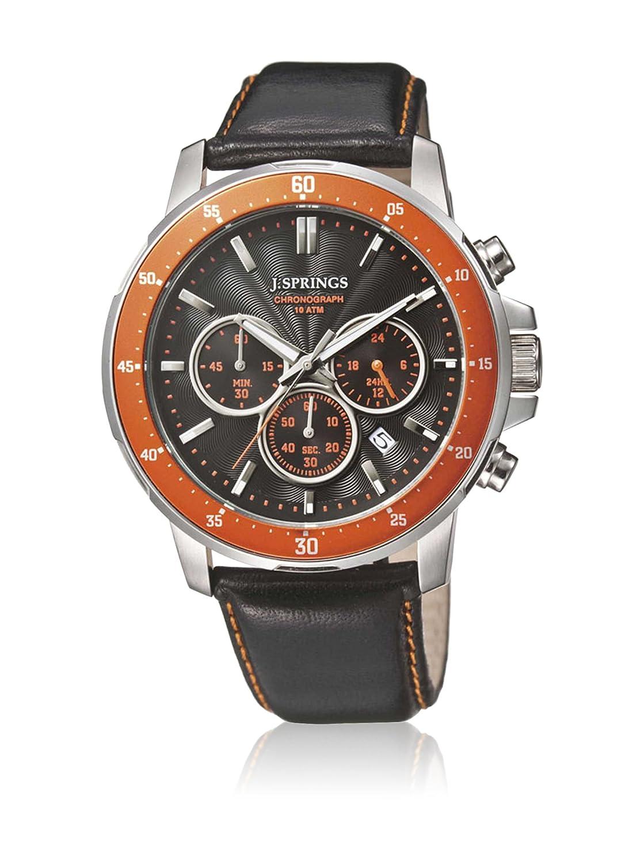 J. Springs Herren-Armbanduhr Sports chronograph Quarz Leder BFC005