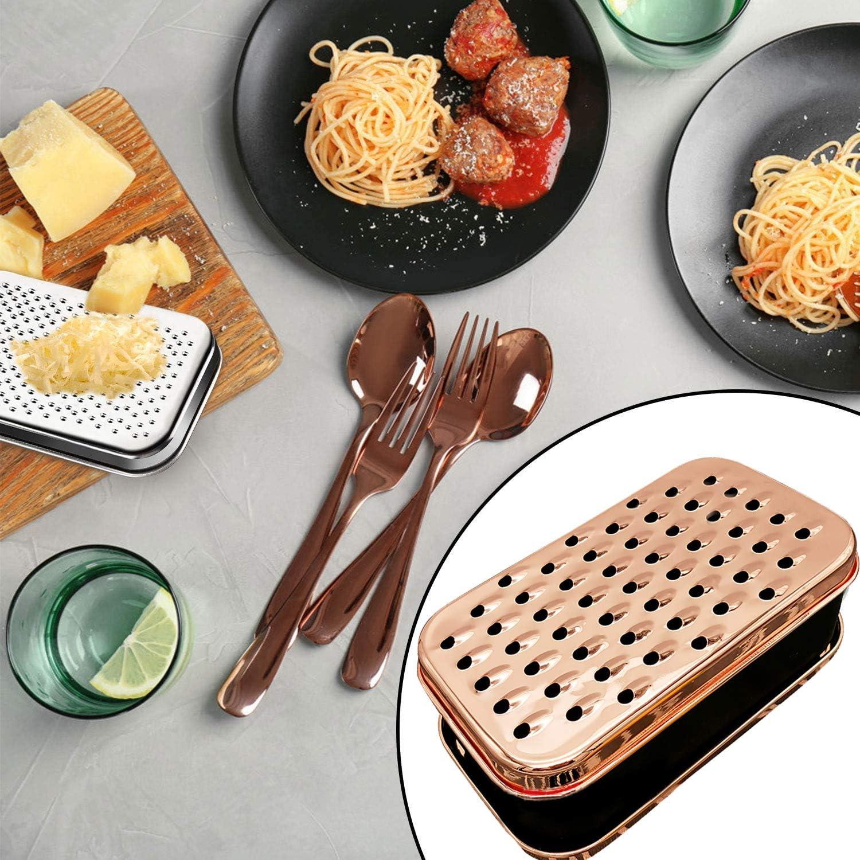 verduras Rallador de queso con recipiente de almacenamiento de alimentos y tapa rallador para jengibre queso y chocolate picador de verduras negro rallador de caja