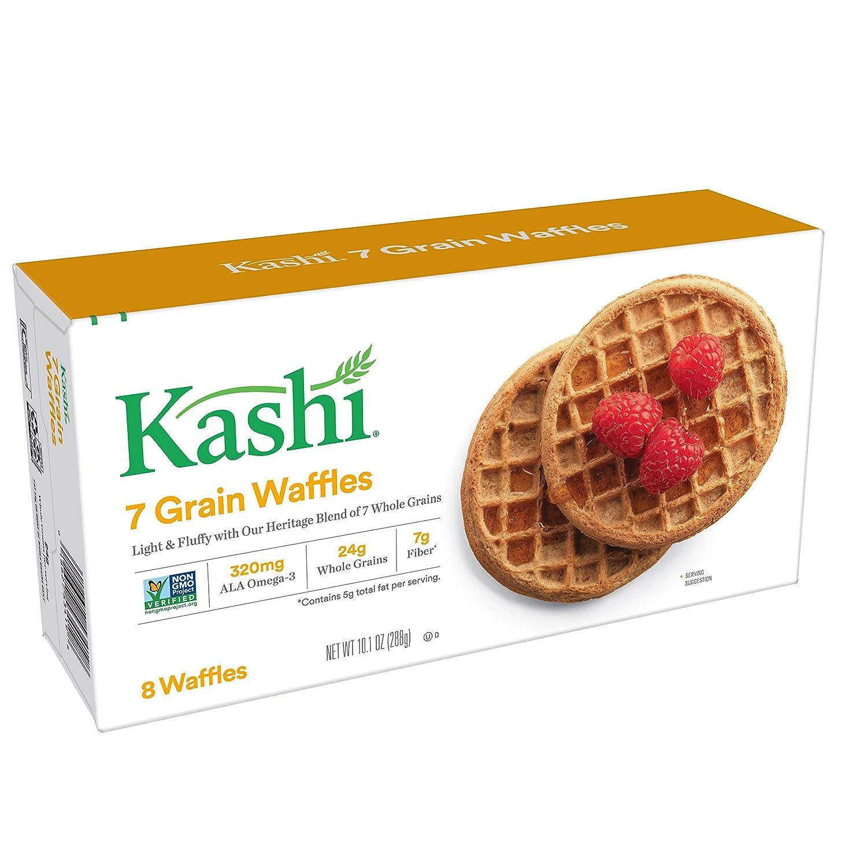 Kashi, Waffles, Blueberry, Vegan, Non-GMO Project Verified, 10 1 oz (8  Count)