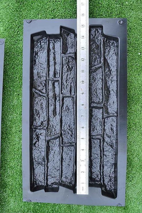 Amazon.com : SET 6 pcs PLASTIK MOLD CONCRETE PLASTER WALL STONE TILES FOR FORMS WALL #W17 : Garden & Outdoor