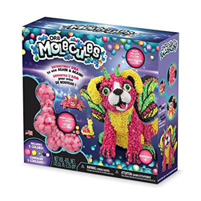 """The Orb Factory Orbmolecules Pupperfly Never Dries Compound, Pink/Yellow/Green, 9.44"""" x 3.44"""" x 8.44""""-Packaging May Vary: Toys & Games"""