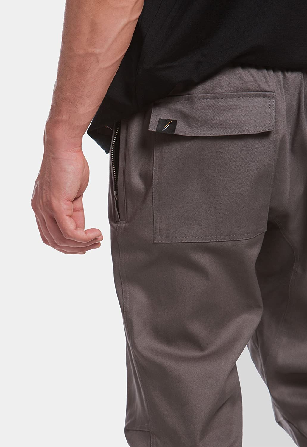 Slate Grey Premium Twill Ankle Zip Pants