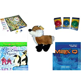 Children's Fun & Educational Gift Bundle - Ages 6-12 [5 Piece] - Includes: Game - Toy - Plush - Hardcover Book - Paperback Book - No. dbund-6-12-26719