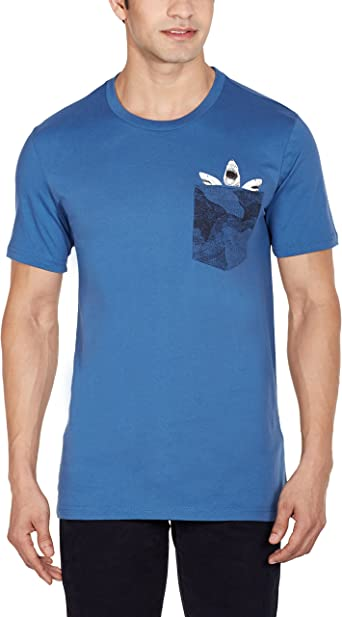 vacío interrumpir escándalo  adidas Men's T-Shirt Shark Pocket: Amazon.co.uk: Clothing