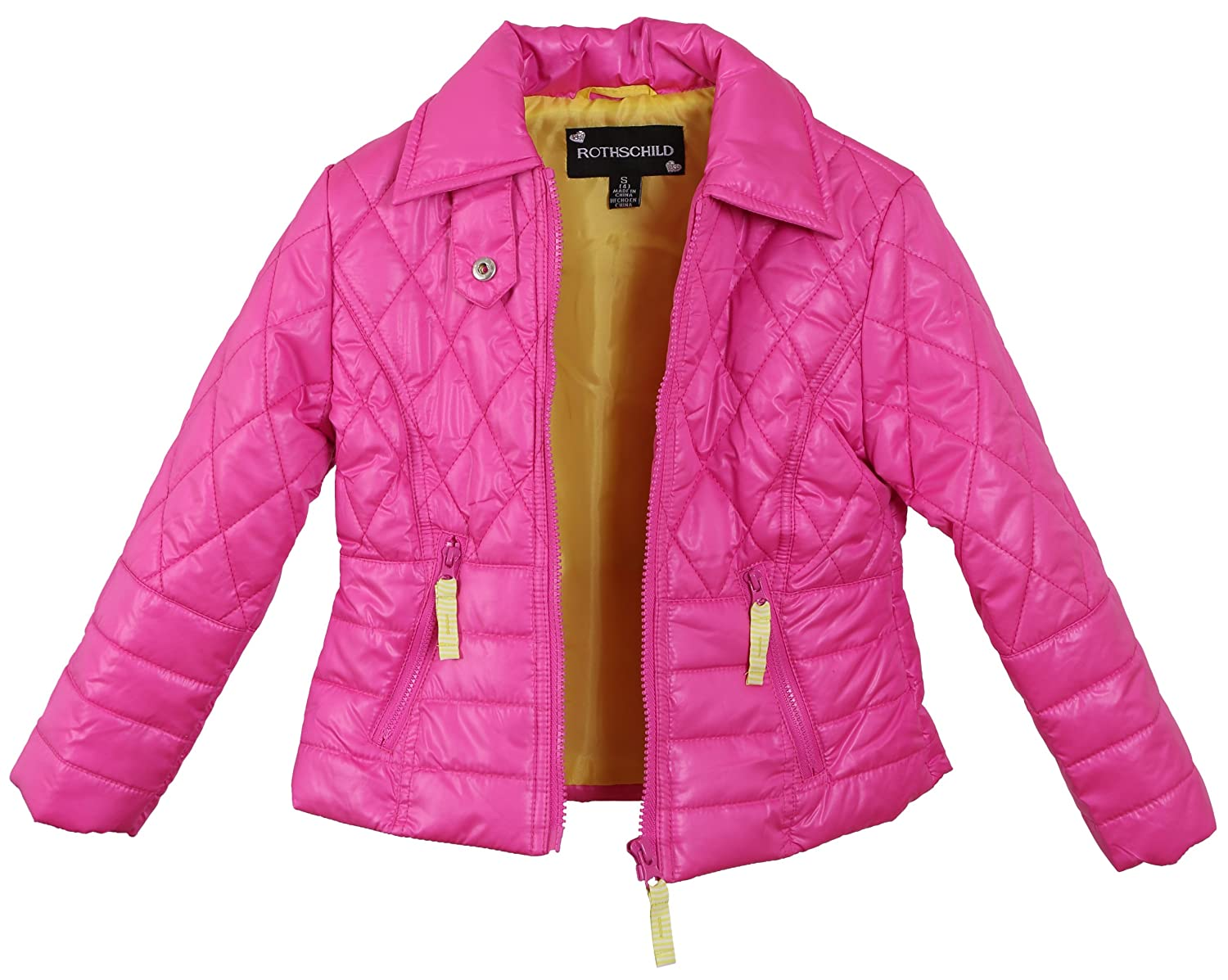 Size 6X Rock Candy Rothschild Girls Quilted Rain Trench Spring Zipped Jacket