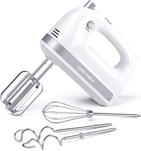 Electric Hand Mixer Handheld Mixer Egg Beater Stainless Steel Egg Whisk