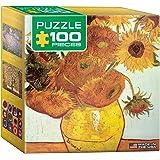 Eurographics Twelve Sunflowers Vincent Van Gogh Mini Puzzle (100-Piece)