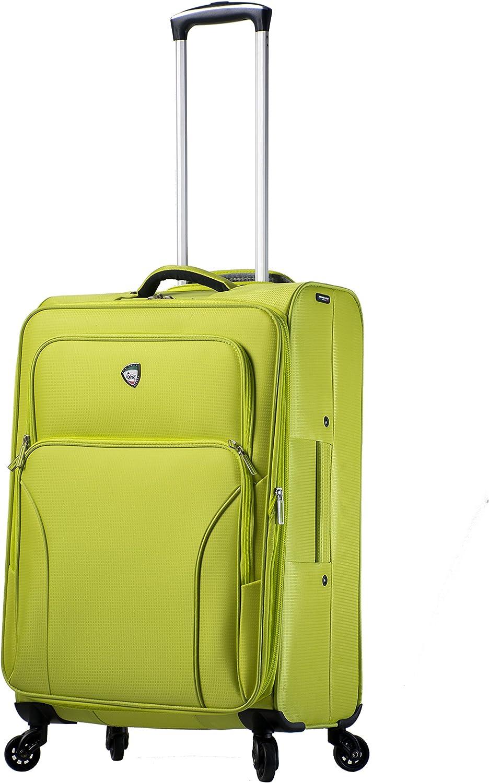Mia Toro Italy Elio Softside Spinner Carry-on-Green Apple