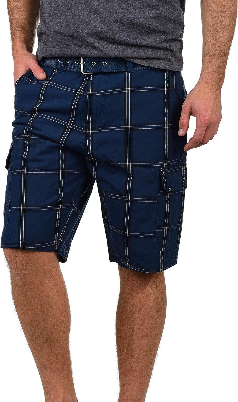Blend Hans Herren Cargo Shorts Bermuda Kurze Hose Mit Gürtel Aus 100% Baumwolle Regular Fit