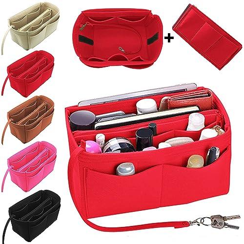 Amazon.com  Purse Organizer Insert Felt Bag Organizer Handbag Tote . 370fc07350442