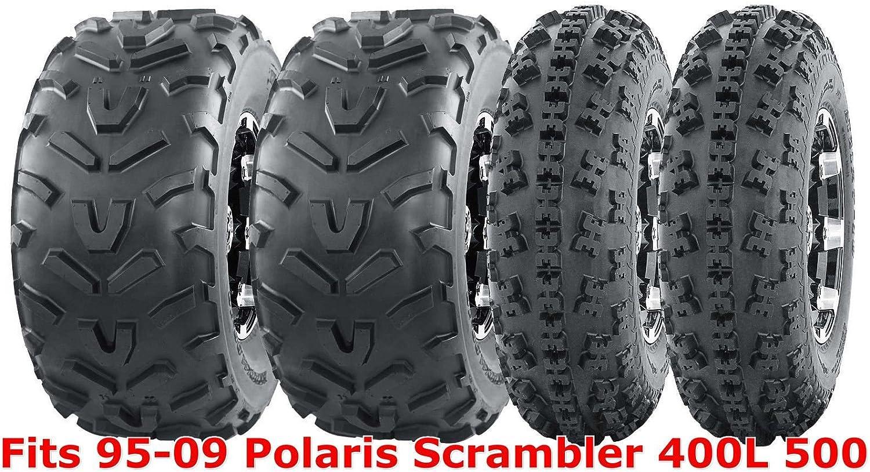 23x7-10 /& 22x10-10 ATV Tire Set for 95-09 Polaris Scrambler 400L 500