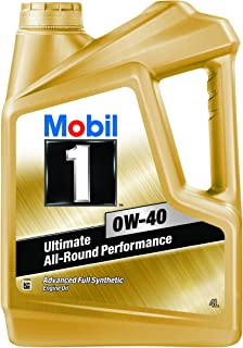 mobil 1 0w 40 api sn sm sl fully synthetic motor oil 1 l amazon rh amazon in
