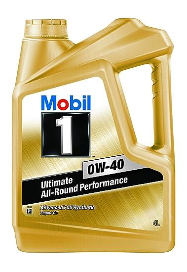 Mobil 1 0w 40 Api Sn Advanced Full Synthetic Engine Oil 4l Amazon In Car Motorbike
