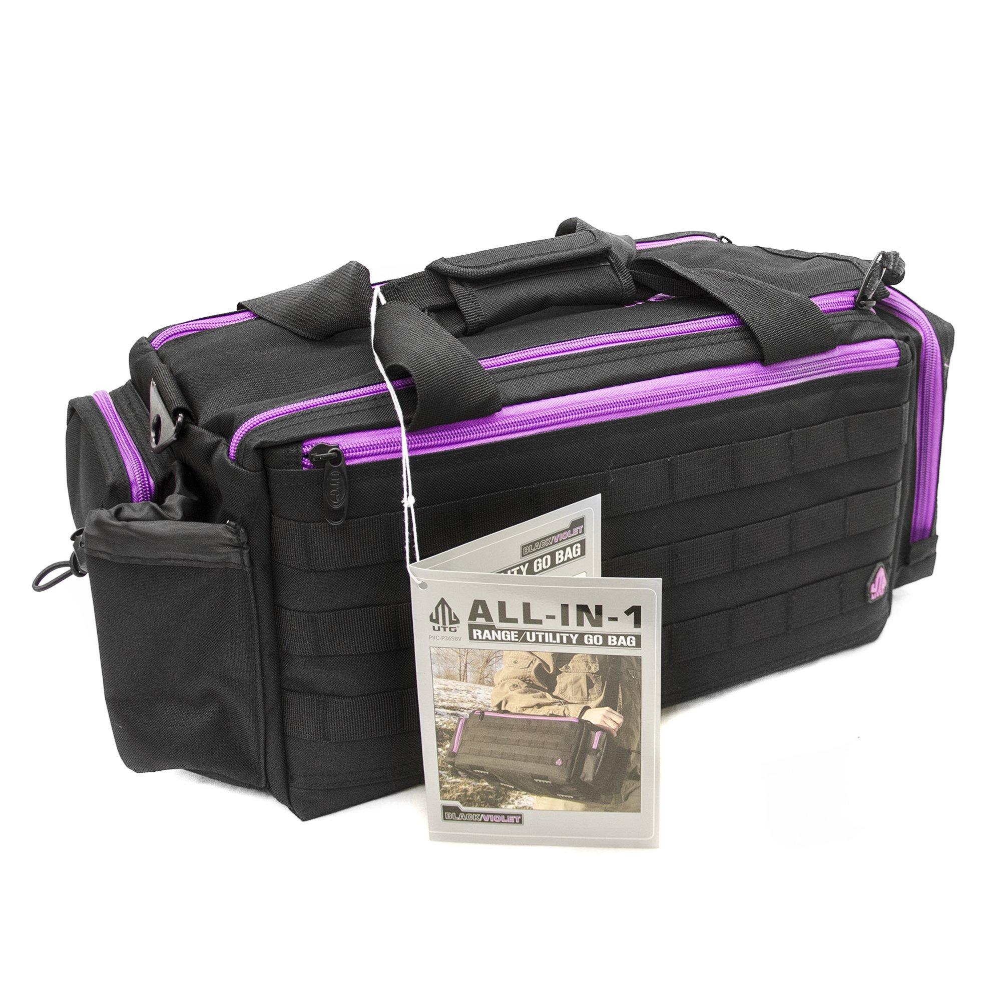 UTG All in One Range/Utility Go Bag, Black/Violet, 21'' x 10'' x 9'' by UTG (Image #15)