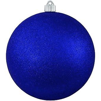 Christmas By Krebs Kbx25979 Shatterproof Christmas Ball Ornament 6 Inch Dark Blue Glitter