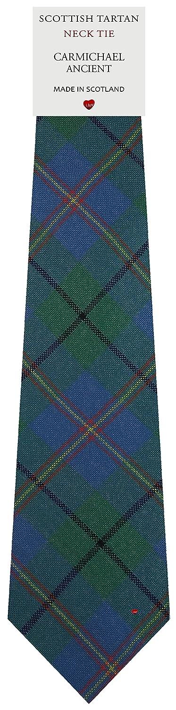 Mens Tie All Wool Made in Scotland Carmichael Ancient Tartan