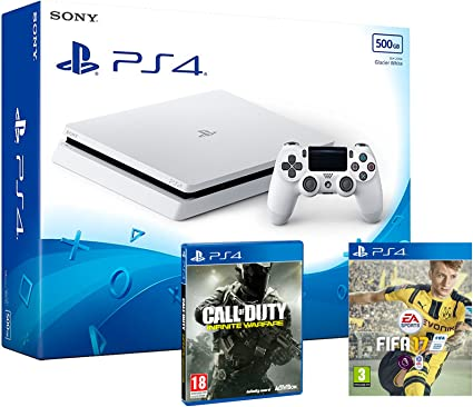 PS4 Slim 500Gb Blanca Playstation 4 Consola - Pack 2 Juegos - FIFA 17 + Call Of Duty: Infinite Warfare: Amazon.es: Informática