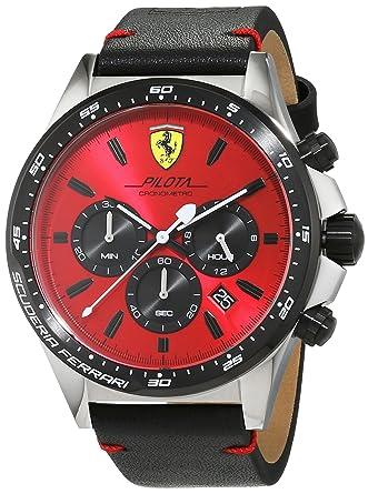 3173c0546 Ferrari Casual Watch For Men Analog Leather - 830387: Amazon.ae