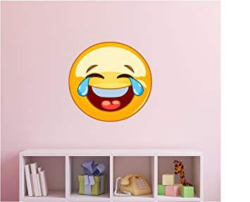 Emoji Wall Decal Emoji Vinyl Stickers Crying Emoji Wall Decal - Emoji wall decals