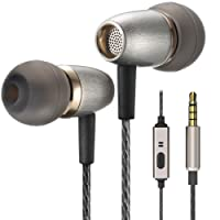 Betron AX3 Earphones Noise Isolating in Ear Headphones Balanced Bass Driven Sound with Microphone for Apple iPhone, iPad, iPod, Samsung, Smartphones, Tablets, Mp3 Players