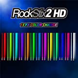 ROCKSTIX 2 HD COLOR CHANGE, BRIGHT LED LIGHT UP DRUMSTICKS, 13 Amazing Color FX, with fade effect, Set your gig on fire!