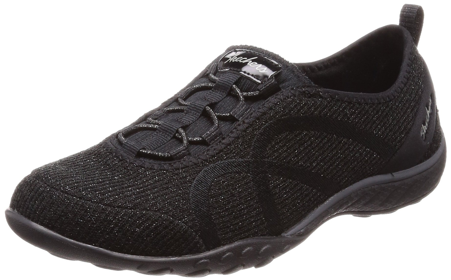 Skechers Relaxed Fit Breathe Easy Star Search Womens Slip On Sneakers,Black,9.5