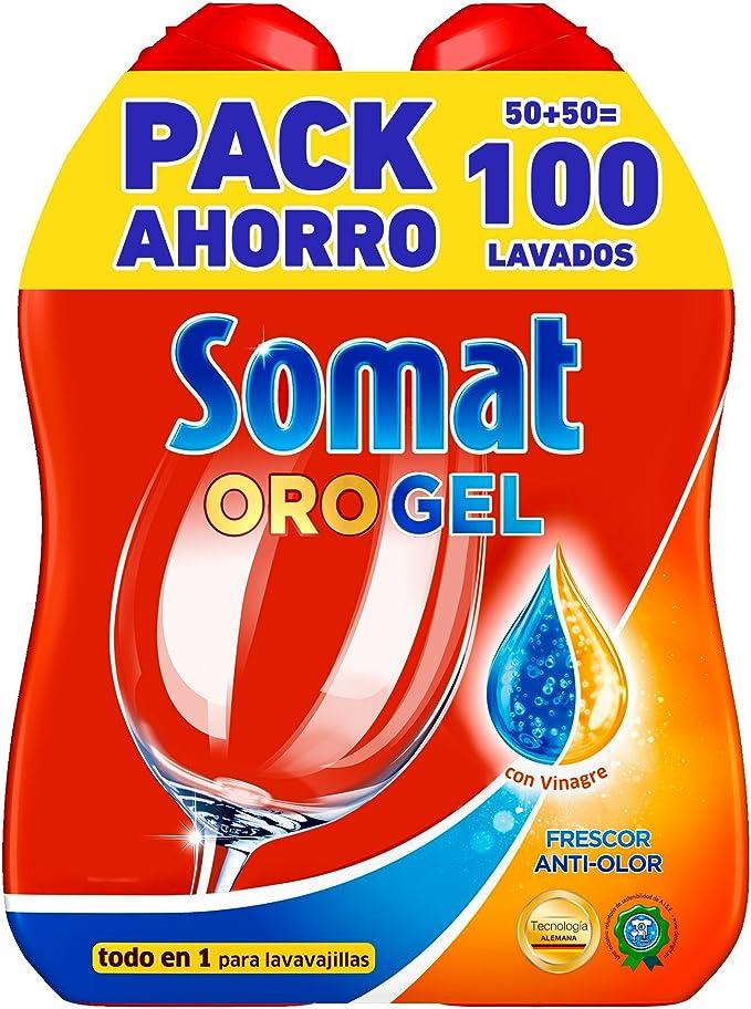 Somat Detergente Gel con Vinagre para Lavavajillas - 100 Dosis ...