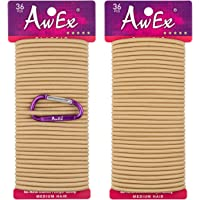 AwEx Strong Blonde Hair Ties,72 PCS,4 mm Regular Loop Hair Bands,No Metal Hair Elastics,No Pull Ponytail Holder
