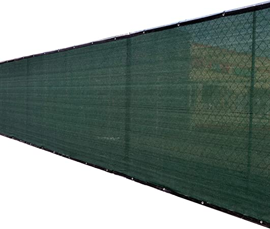 Amazon Com 5 X50 5ft Tall Green Fence Privacy Screen Windscreen Shade Cover Mesh Fabric Aluminum Grommets Home Court Or Construction Garden Outdoor
