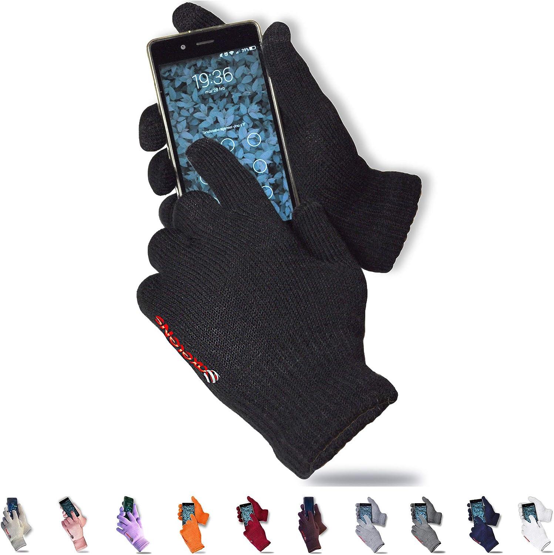 axelens Guantes Touch Screen Persuadido Vosotros por Smartphone - Universales Unisex – Negro