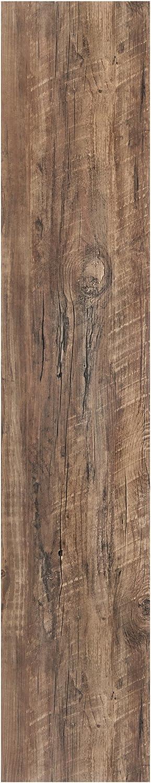 Achim Home Furnishings LSLYP20308 Flex Flor Looselay Plank 9in x 48in Aged Driftwood-8 Planks/24 sq. ft. Vinyl Flooring
