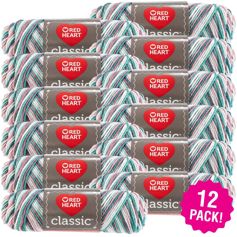 Red Heart 96996 Classic Yarn 12/Pk-Rambling Rose, Pack