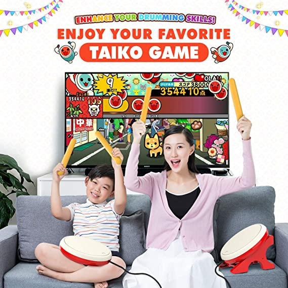 MoKo Controlador de Tambor Compatible con Switch, Juego de Controlador de Baquetas para Motion Sensing Game de Switch Taiko Drum Master Game: Amazon.es: Electrónica