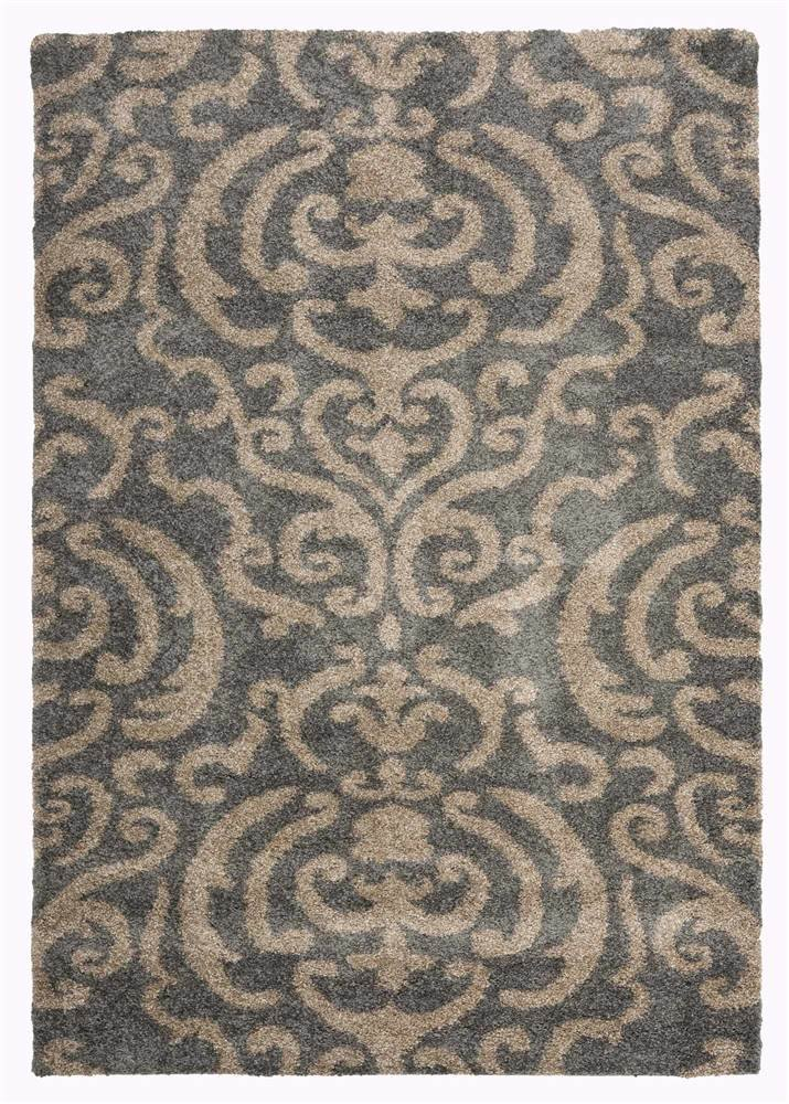 amazoncom rectangular shag rug in gray 7 ft 6 in x 5 ft 3 in kitchen u0026 dining