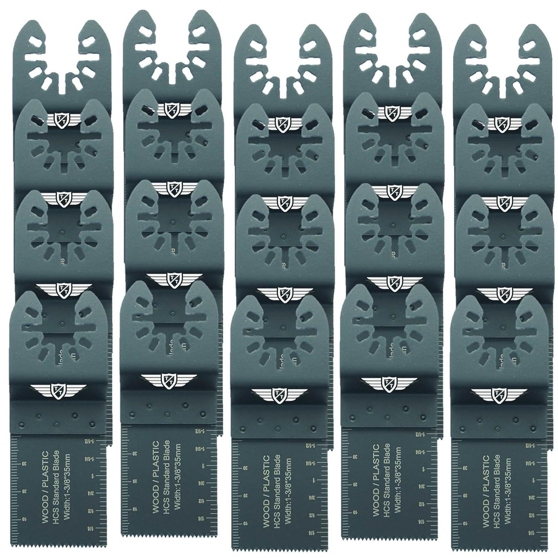 Pas StarLock 20 x 35 mm Topstools FA35F/_20 Bois rapide Lames de coupe pour Dewalt Black et Decker Bosch Fein Makita Milwaukee Parkside Ryobi Worx Multitool Outil multifonction Accessoires