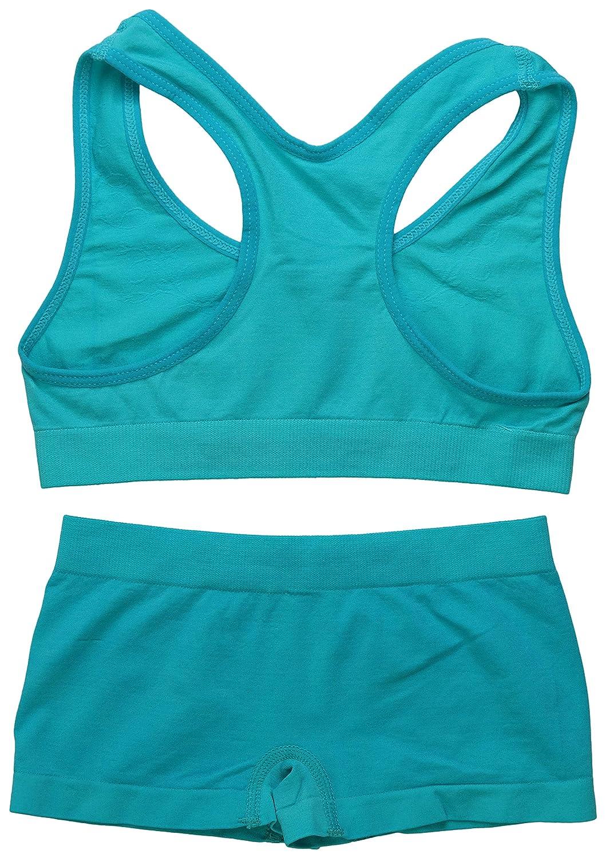 ToBeInStyle Girl Pack of 6 Set Spaghetti Strap Training Bras /& Boyshorts Bikinis