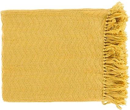 Mustard Yellow Throw Blanket Extraordinary Amazon Diva At Home Mustard Yellow Chevron Cotton Fringed