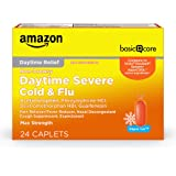 Amazon Basic Care Daytime Severe Cold and Flu Relief, Vapor Ice; Cold Medication for Severe Cold and Flu Symptoms Like Headac