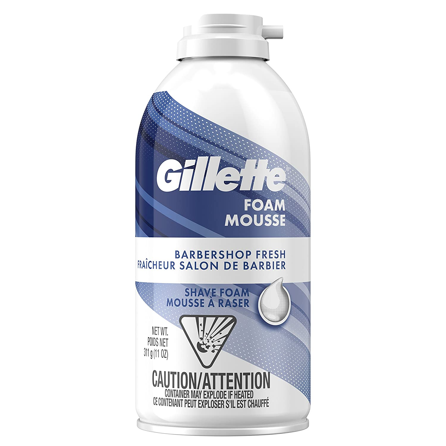 Gillette Foam Barbershop Fresh Shave Foam, 311g Procter and Gamble