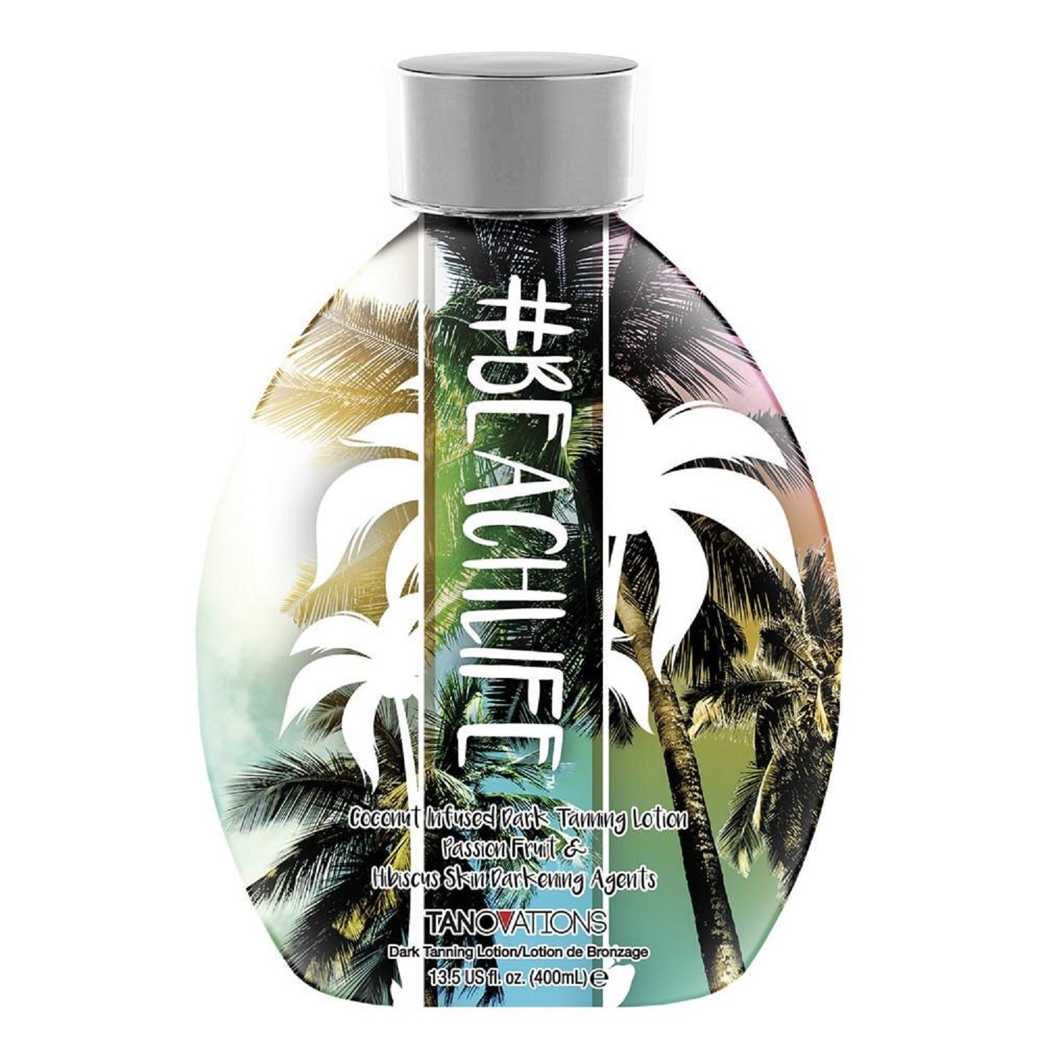 #BeachLife, Indoor/Outdoor Intensifiers, Coconut Infused, 13.5 Ounce Tanning Lotion, Tanovations
