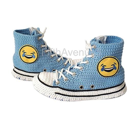 09701296bb7e Amazon.com  Amazing Winter House Shoes Emoji Slippers Cartoon Crochet  Slipper