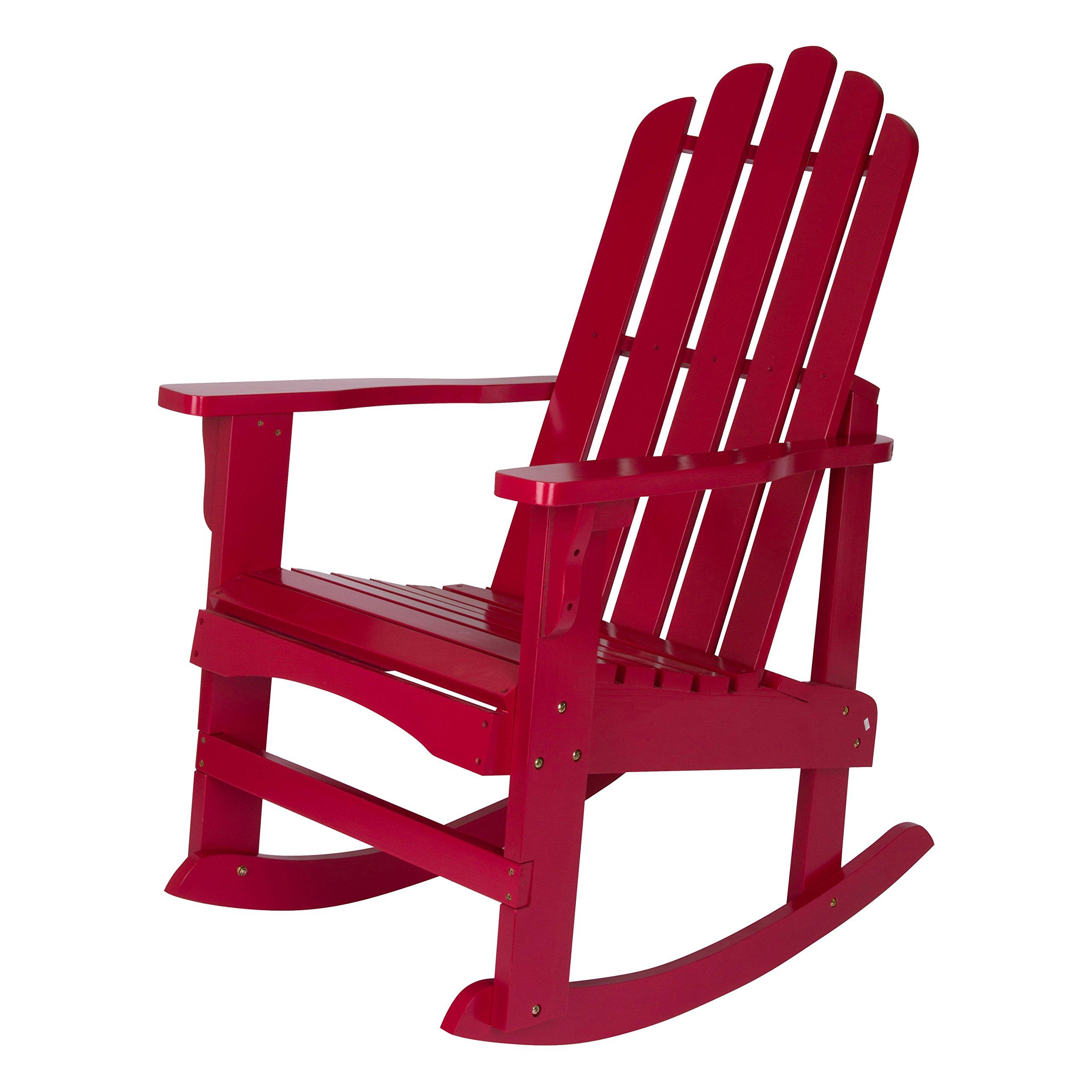 Shine Company Inc. 4698CP Marina Porch Rocking Chair, Chili Pepper